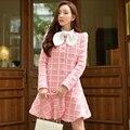 Dabuwawa 2016 зима новый тонкий средней длины пальто розовый пальто