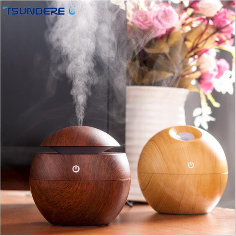 TSUNDERE L Essential Oil Diffuser Air Humidifier USB 130ML LED Ultrasonic Mist Aroma Air Purifier for Office Home Bedroom Living eworld essential oil diffuser 130ml led ultrasonic cool mist aroma air humidifier usb air purifier for office home bedroom