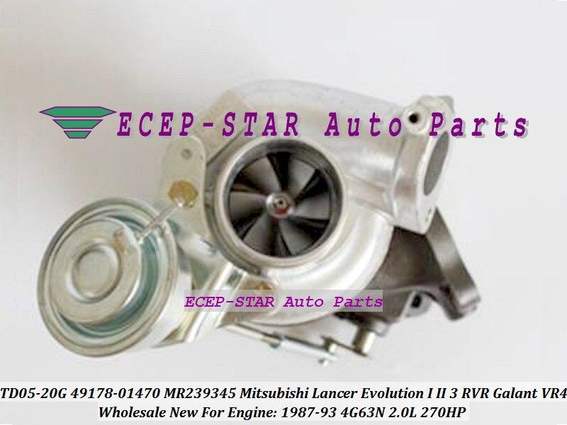TD05-20G 49178-01470 4917801470 MR239345 Turbo For Mitsubishi Lancer Evolution I II III RVR Galant VR4 1987-93 4G63N 2.0L 270HP