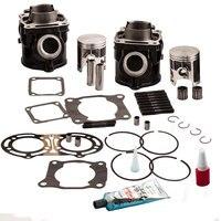 Для Yamaha BANSHEE YFZ350 стандарт STD Диаметр цилиндра поршневые прокладки кольцо комплект 1987 2006 2GU 11181 00 00, 2GU 11631 00 94