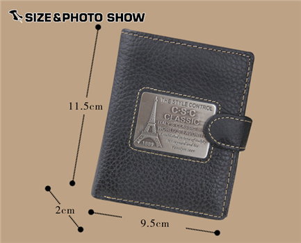 0c741a17d3c1 Fashion brand men short wallets pylon patriarch Iron sculpture genuine  leather purse dollar price monederos mujer bolsa aj bag-in Wallets from  Luggage ...