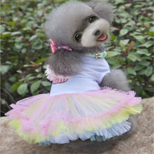 Dog Skirt Spring and Summer Dress Party Wedding Colorful Cake