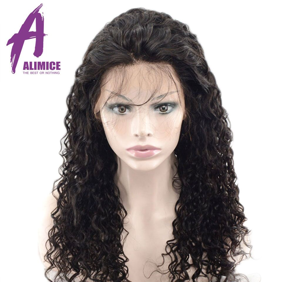 Alimice Hair Water Wave 360 Lace Frontal Wigs Brazilian Remy Full End Human Hair Wigs With Baby Hair Pre-Plucked With Baby Hair (9)