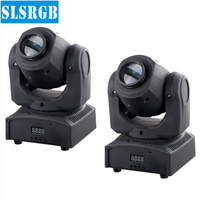 2pcs Lot 10W Mini Led Moving Head Light 1 10W White Color Cree LED Color Gobo