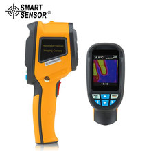 все цены на SMART SENSOR Precision Portable Thermal Imaging Camera Infrared Thermometer Image -20℃~300℃ HT-02 2.4 Inch High Resolution Color онлайн