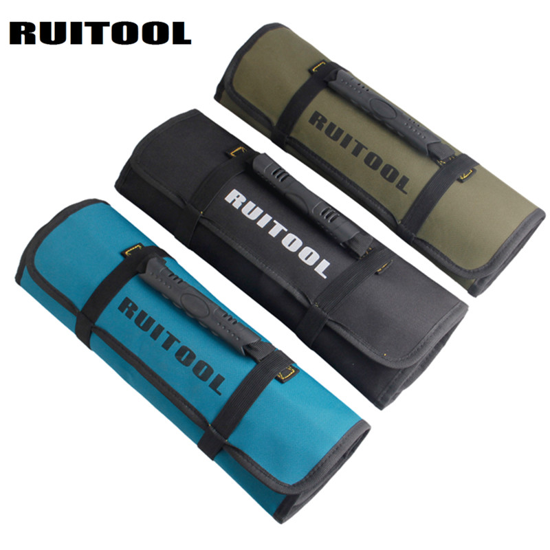 RUITOOL RollingTool Bag 580*350mm Waterproof Oxford Bag Tools Organizer Tool Storage For Electrician Tools oxford cloth durable waterproof tools container storage waist bag with belt electrical tools bag 24x20cm 9 45x7 87