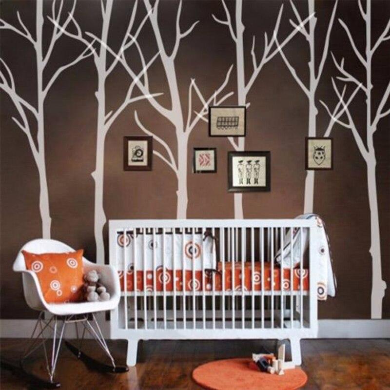 Nouveau arbre d'hiver sticker Mural Motivation forêt tête de lit salon vinyle Mural décor H335CM