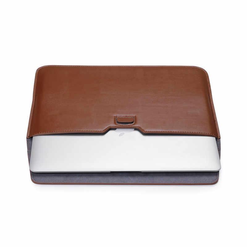 11.6 12 13.3 15 אינץ מחשב נייד שרוול עבור Macbook עור מפוצל מחברת מחשב נייד תיק מקרה עבור Macbook רשתית 11 12 13 15 A1708