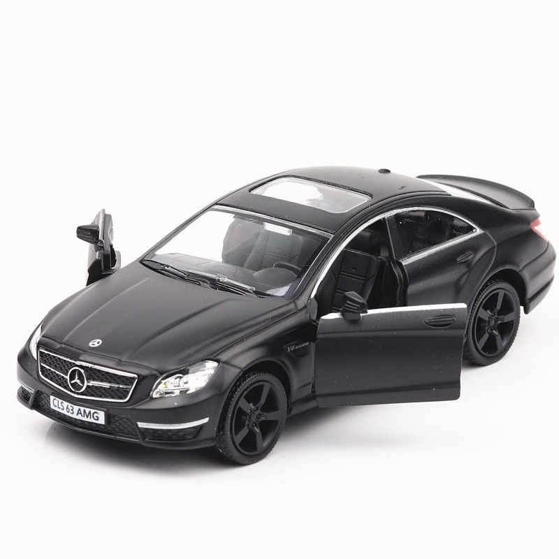 """5"""" Simulation Toy Vehicles Diecast Metal Alloy Car Models For Mercedes-Benz AMG CLS63 Model Toy Vehicles Matte Black For Kids"""