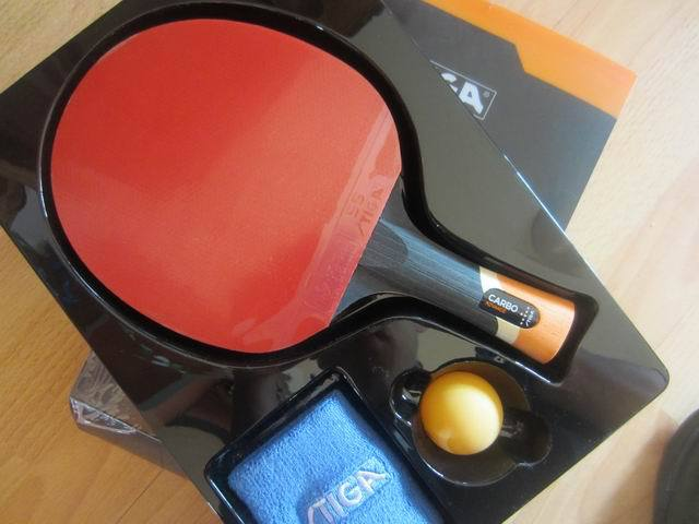 Original stiga carbo 6 stars table tennis rackets suit for offensive racquet sports pingpong paddles finished