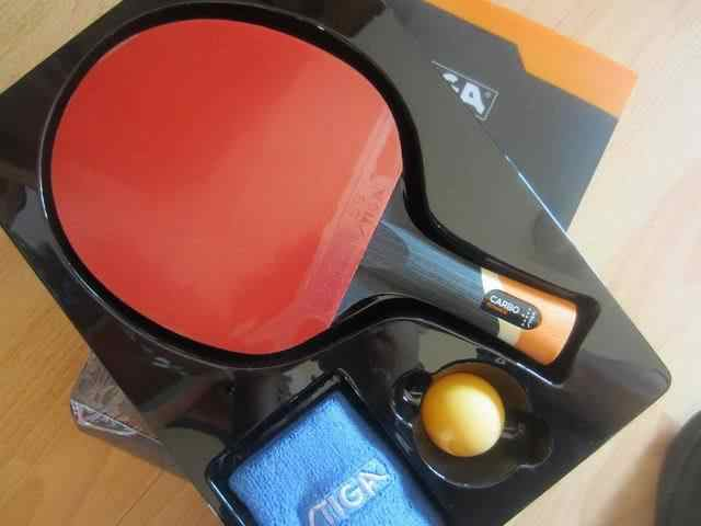 Original stiga carbo 6 stars table tennis rackets suit for offensive racquet sports pingpong paddles finished rackets carbon