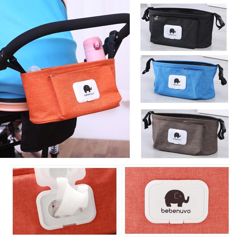 Multifunctional Pram Pushchair Baby Stroller Storage Buggy Cup Bottle Holder Organiser Mummy Bag Stroller Accessories
