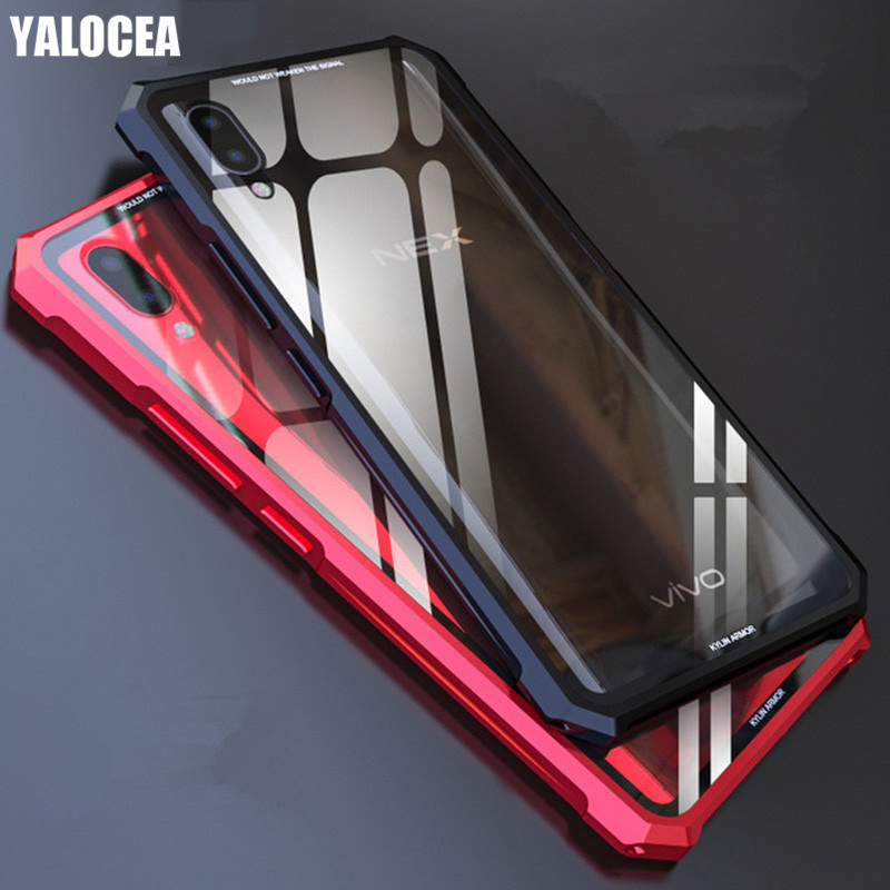 e4292ca0246 YALOCEA Luxury Armor Metal Case For Vivo Nex S Case Heavy Duty Shockproof  Tempered Glass Protect Cover For Vivo Nex Cases Fundas