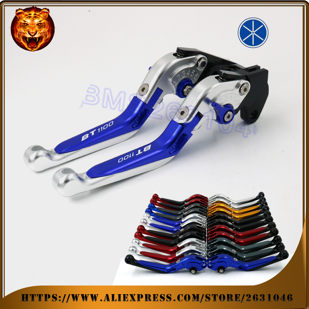 Motorcycle Adjustable Folding Extendable Brake Clutch Lever For YAMAHA BT1100 BT-1100 BT 1100 06  BLUE BLACK RED FREE SHIPPING cnc motorcycle adjustable folding extendable brake clutch lever for yamaha xt1200z ze super tenere 2010 2016 2012 2013 2014 2015