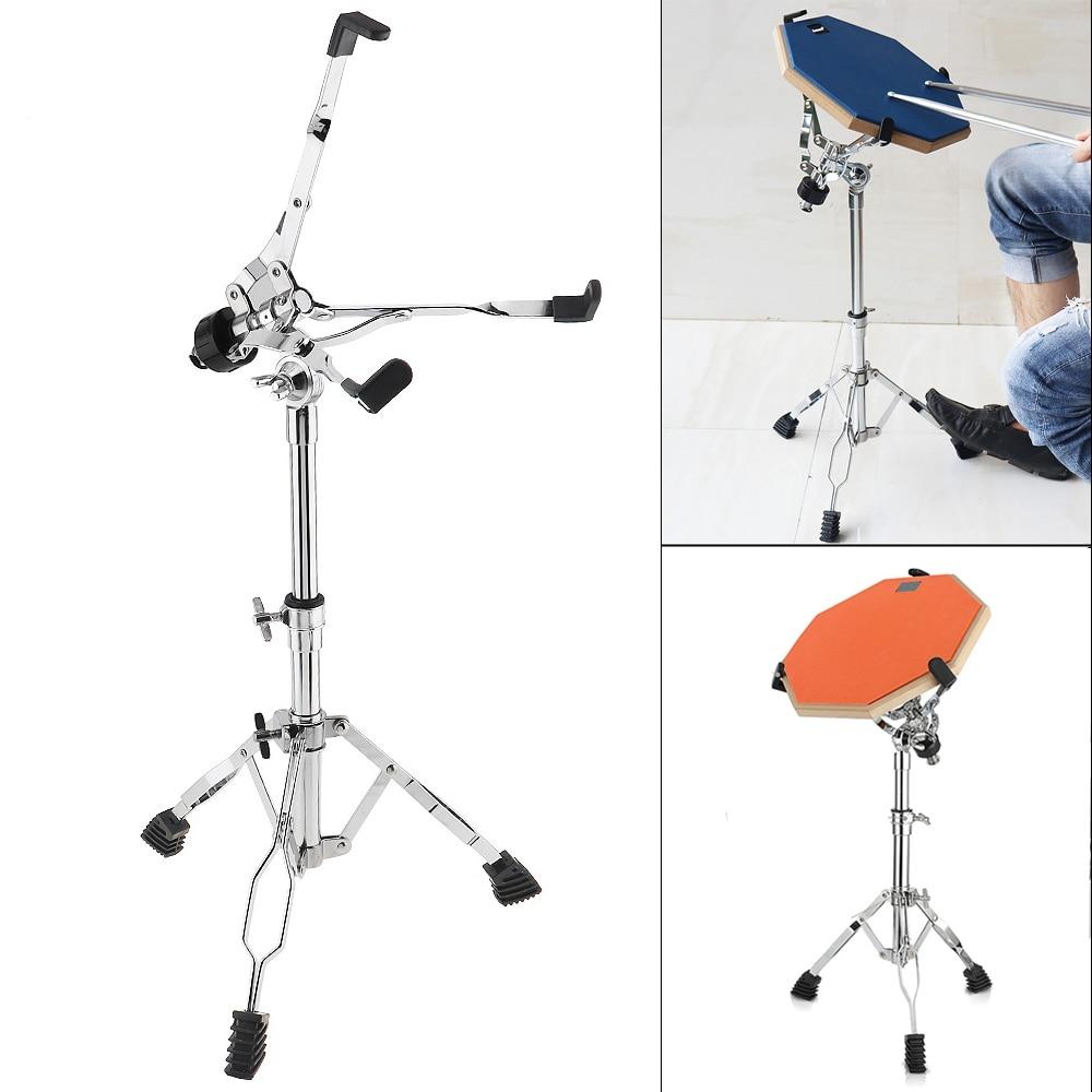 Full Metal Foldable Adjustment Floor Drum Stand Holder for 10 12 16 Inch Jazz Snare Dumb