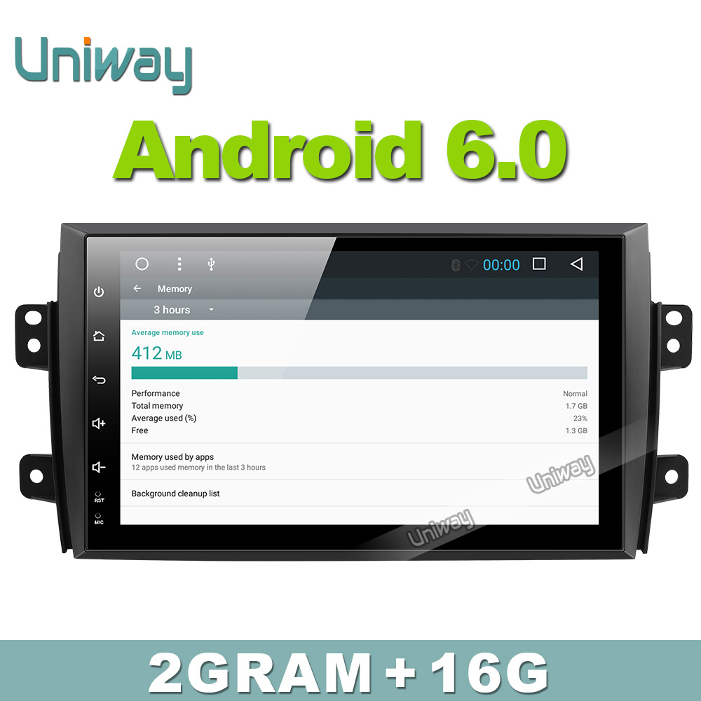 Uniway 2g 16g android 6 0 car dvd player for suzuki sx4 2006 2007 2008 2009