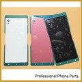 Оригинал Задняя Крышка Батарейного Отсека Чехол Для Sony Xperia M4 Aqua E2303 E2333 E2353 NFC Корпус Мобильного Телефона Части + Логотип, Черный/Белый/Красный