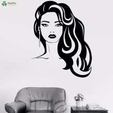 YOYOYU Vinyl Wall Decal Hairdressing Beauty Salon Hair Stylist Barber Art Interior Room Decoration Stickers FD433