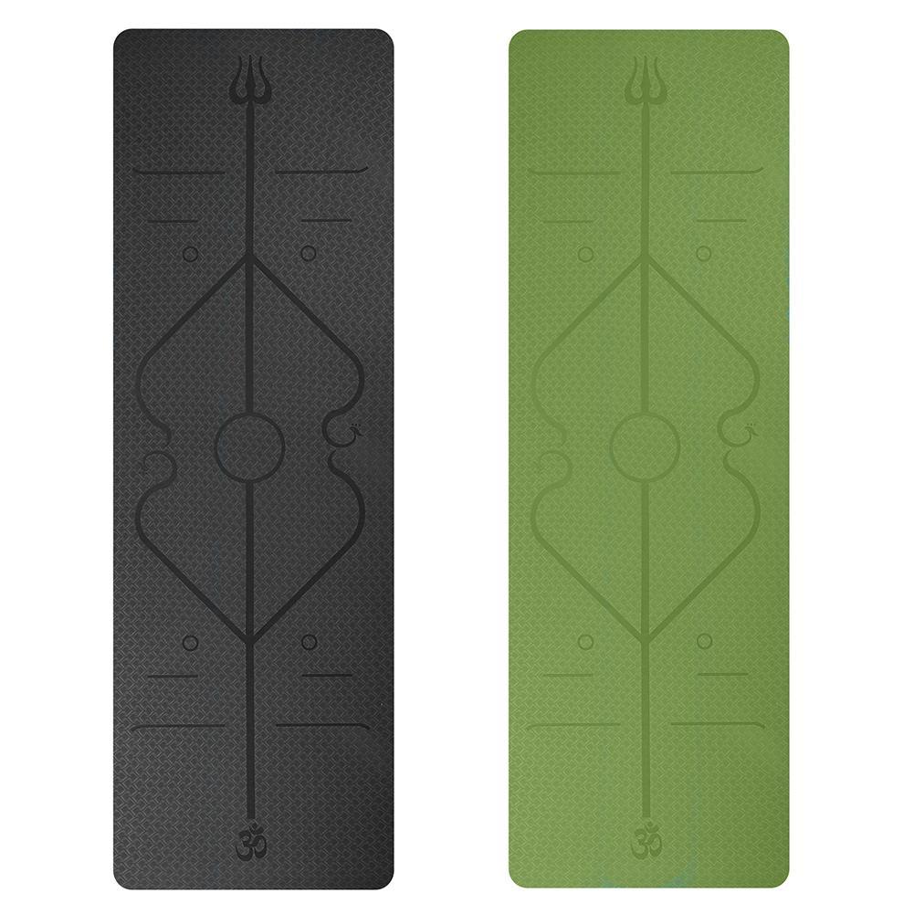 Alignment Yoga Mat 6mm Yoga Bazaar