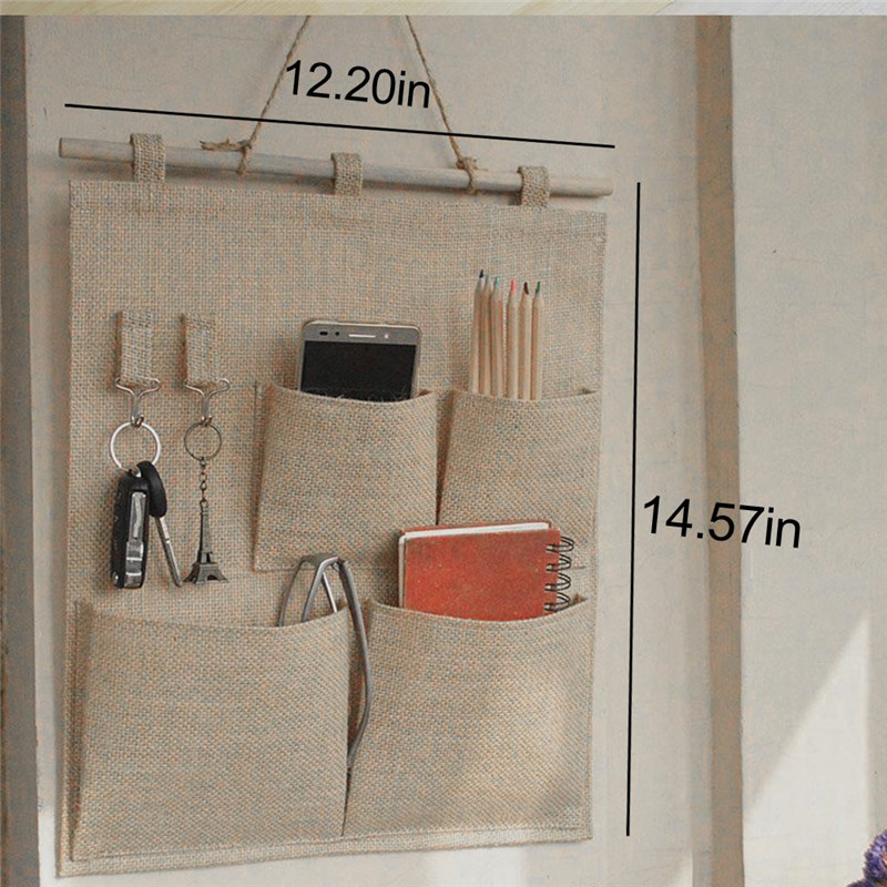 ttlife 4 pockets hanging storage bag purse handbag tote bag storage organizer closet rack hangers