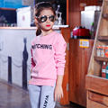 Candy color kids girls clothing set 2017 fashion letter kids clothing set children long sleeve solid cotton baby girl sport set