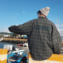 2018 spring and autumn new Korean version of the wild casual embroidery lattice men s loose