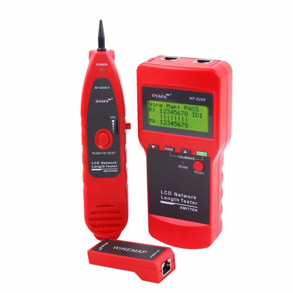 Noyafa NF-8208 Multipurpose LCD Display Network Telephone Cable Tester Tracker Line Finder Wire Tester Cable Locator цена