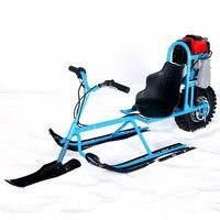 Электрические сани катание на лыжах двигатель автомобиля одноплатный снегоход направленная снег сани Blowmobile доски для детей лыжный