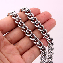 цена на Hot Sale Women's Men's Curb Link Chain Necklaces Or Bracelet 7-40