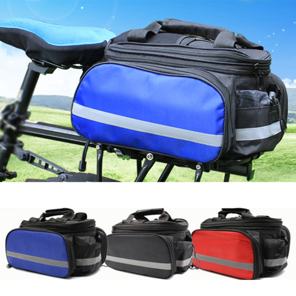 Bicycle Bag Insulated Trunk Cooler Bag Cycling Bicycle Rear Rack Storage Luggage Bag Reflective MTB Bike Pannier Shoulder Bag