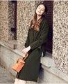 LESIES Осени Зимы Женщин Длинное Пальто Army Green Траншеи Пальто Для Женщин Леди Пальто Chaquetas Mujer Casaco Feminino LS175301