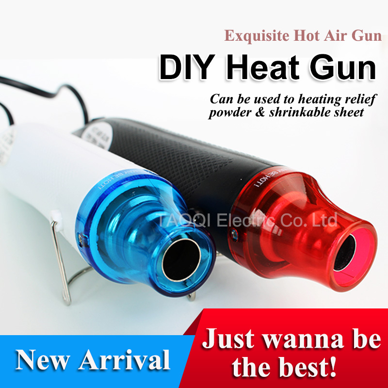 220V Heat Gun Electric Hot Air Gun for DIY Using Electric Power tool 300W temperature with supporting seat Hair dryer soldering