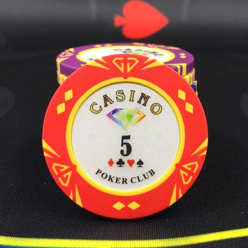 25 pçs pçs set fichas de poker