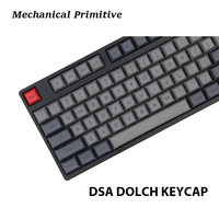 MP 145 keys DSA PBT Dye Sublimated Keycap Cherry MX switch keycaps for Wired USB Mechanical Gaming keyboard