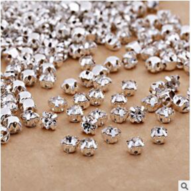 7663cf92b1 US $0.59 50% OFF|Prajna Garment Beads Crystal Claw Glass Rhinestones For  Clothing Rhinestone Flatback Sew On Strass Dress Crafts Handicrafts J-in ...