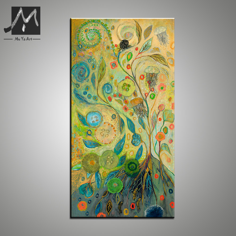 High quality hand painted oil painting vertical Abstract acrylic ...