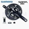 SHIMANO SORA 3503 170MM--30/39/50T 9-скоростной дорожный Черный рукоятка велосипеда