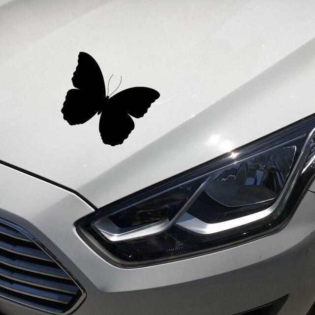 13 cm * 13.7 cm Papillon Mignon Drôle Autocollants De Voiture Extérieur  Accessoires De Voiture Styling