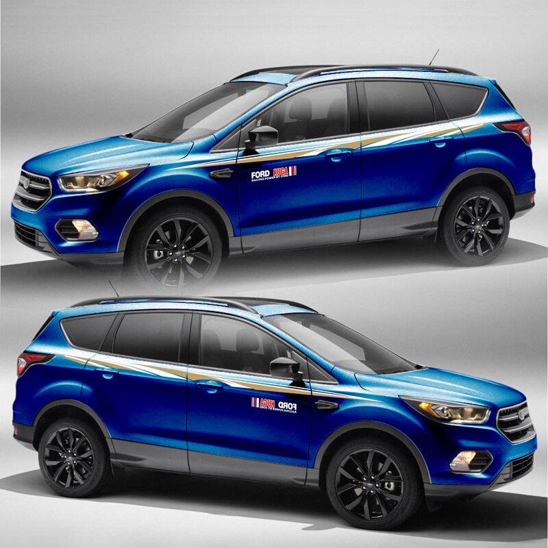 World Datong car styling sport sticker For Ford Kuga accessories and decals auto stickerstickers