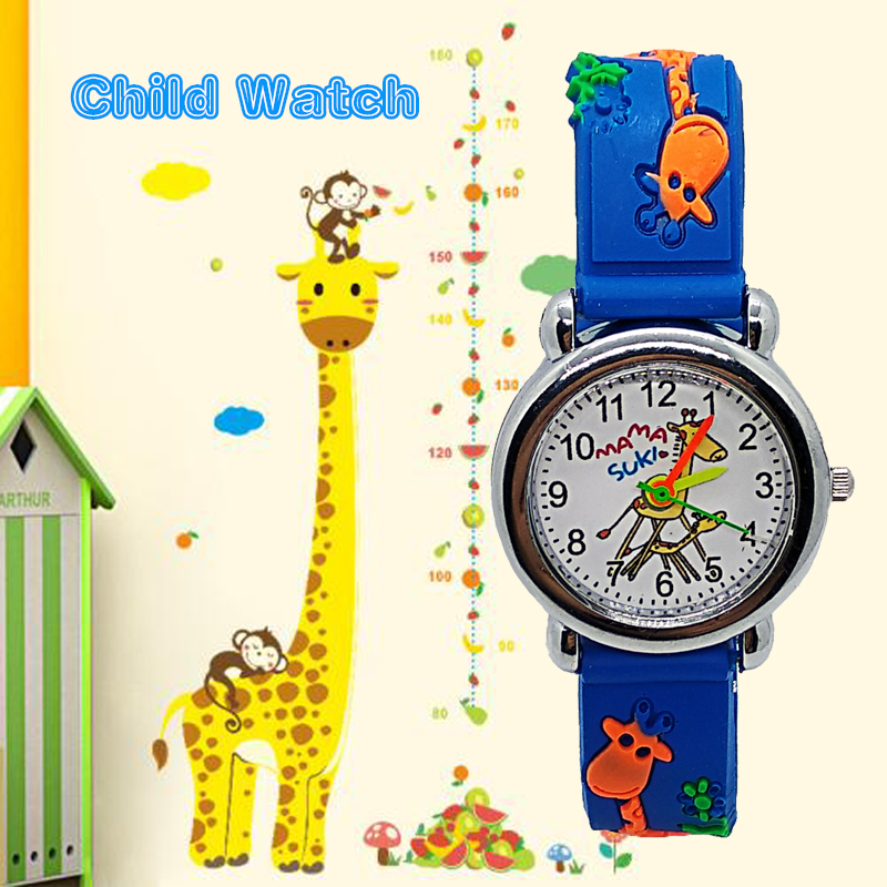 Adventure Time Animal Giraffe Children Watch For Boy Girl Clock Kids Sports Watches Child Digital Leather Quartz Wristwatches C7