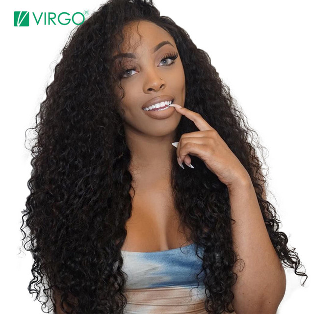 Virgo Hair Brazilian Curly 360 Lace Frontal Wig Pre Plucked With Baby Hair  Remy Lace Front Human Hair Wigs For Black Women ae77990694