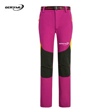 2016 Women Outdoor Hiking Pants Climbing Hunting Snowboard Trekking Windproof Cycling Trousers Camping Skiing Softshell
