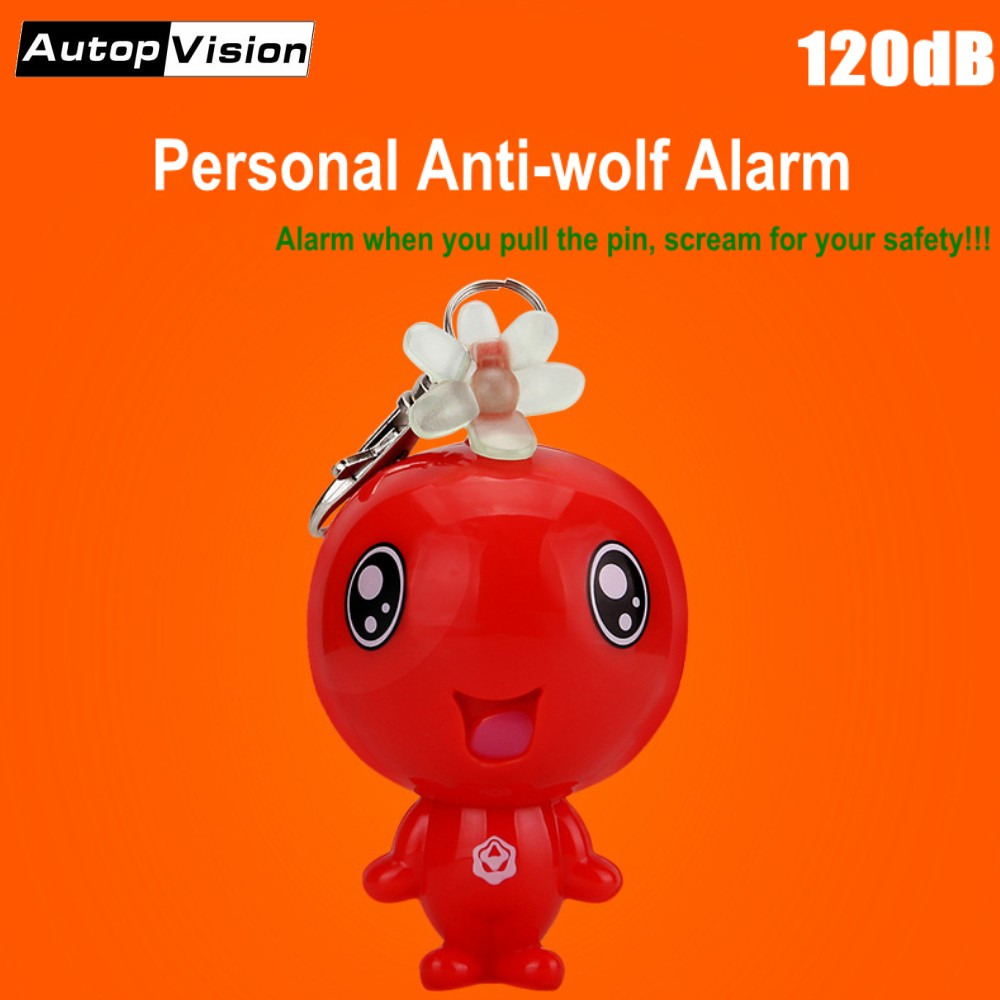 10pcs Lovely Keychain Alarm 120dB Personal Safety Alarm Mini Cute Key Chain Anti-wolf Anti-Attack Alarm For Students Women Elder