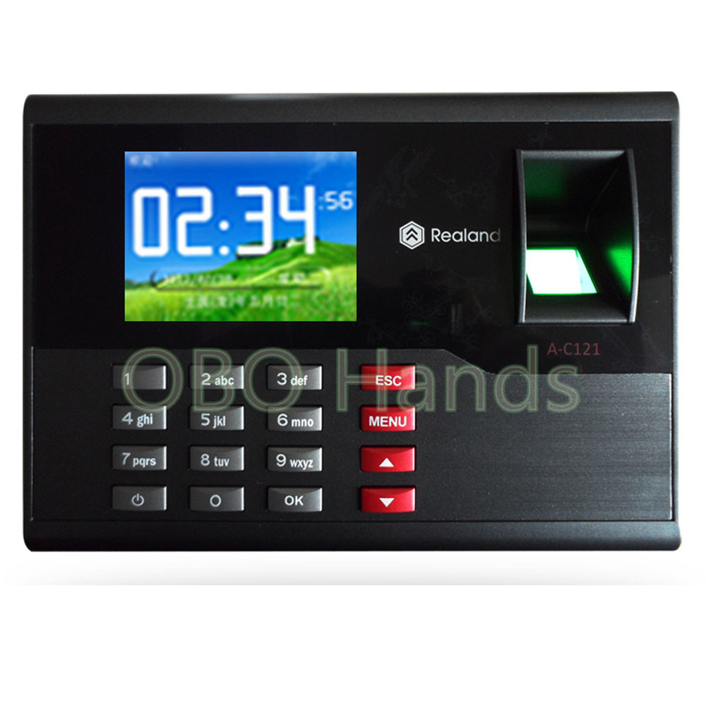 AC121 TCP/IP biometric fingerprint time attendance system English office employee time clock machine for access control system biometric fingerprint time clock recorder machine electronic employee office attendance system