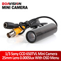 Mini Bullet Security Camera Sony CCD RJ10 DSP 650TVL 3D-DNR Starlight 0.0005 Lux OSD Menu CCTV Security Camera For 960H DVR