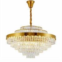 Contemporânea Lustres de Cristal Lustres de Iluminação de Luxo Sala de estar Sala de Jantar Iluminação Ouro Lustres    -