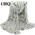 2016 fashion Design Bird Pattern Scarf Women long Scarves Shawls Winter Pashmina Viscose Mujer Echarpes Foulards Femme V10A18423