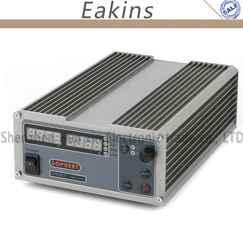 Gophert digital compacta ajustable laboratorio fuente de alimentación DC OVP/OCP/OTP MCU PFC activo 60 V 17A 170 v-264 V + EU + cable