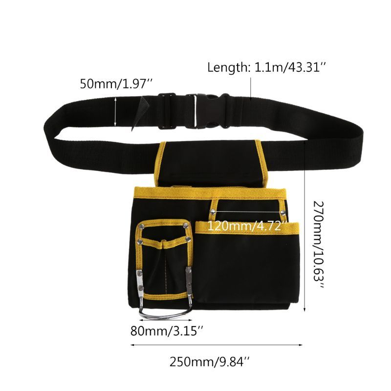 Multi funcional eletricista ferramentas saco cintura bolsa