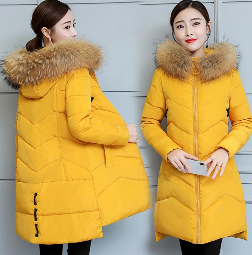 Большие меховые парки для беременных, зимнее пальто для беременных, толстая хлопковая зимняя куртка, верхняя одежда для мам, парки для берем...
